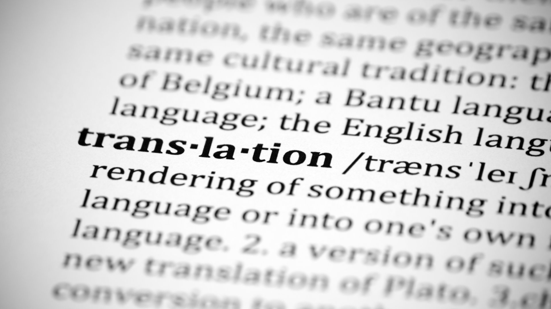 Translation and Interpreting